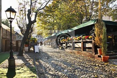 Naklejka Ulica Skadarlija w Belgradzie. Serbia