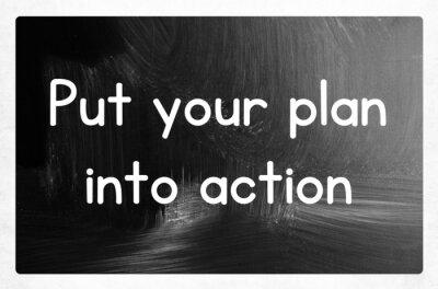 Naklejka umieścić swój plan w życie