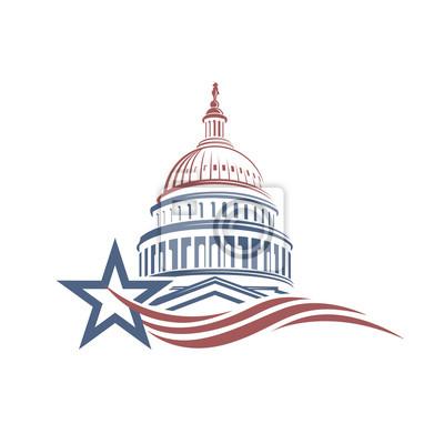 Naklejka Unated States Capitol building icon in Washington DC