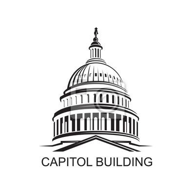 Naklejka Unated Zjednoczone Kapitol w Waszyngtonie ikona