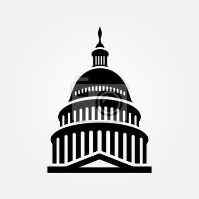 Naklejka United States Capitol building icon. Vector illustration