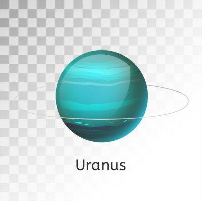 Naklejka Uran planeta 3d ilustracji wektorowych