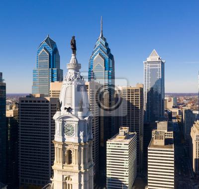 Naklejka Urban Core City Center Wysokie budynki Downtown Philadelphia Pennsylvania