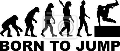 Urodził się skakać ewolucję parkour