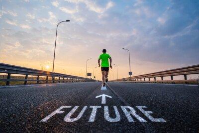 Naklejka Uruchom w przyszłości
