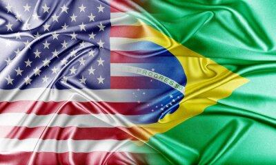 Naklejka USA i Brazylii.
