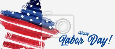 Naklejka USA Labor day background