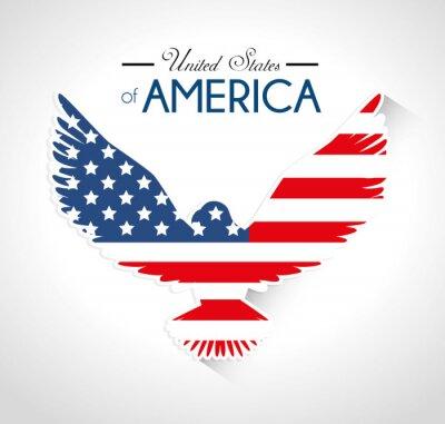 Naklejka USA projektowania, ilustracji wektorowych.