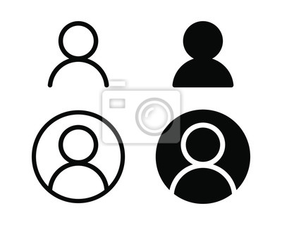 Naklejka User profile login or access authentication icon vector illustration image.