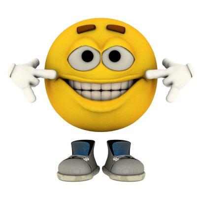 Naklejka uśmiech
