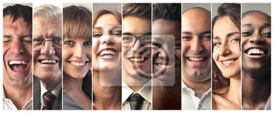 Naklejka Uśmiechnięci ludzie