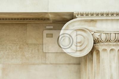 Naklejka Użytkowa szczegół starożytnej kolumny Ionic
