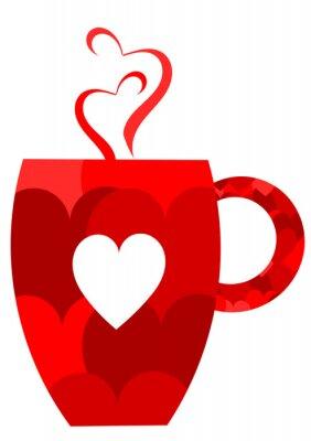 Naklejka Valentine kubek