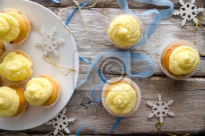 Naklejka Vanilla babeczki świąteczne