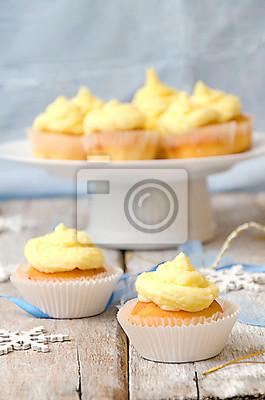 Naklejka Vanilla Cupcake Boże Narodzenie