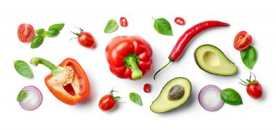 Naklejka various fresh vegetables