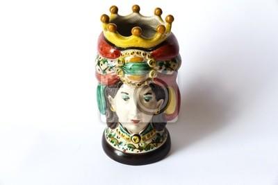 Naklejka Vaso, Ceramica di Caltagirone