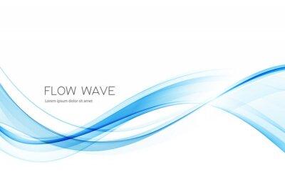 Naklejka Vector blue color abstract wave design element