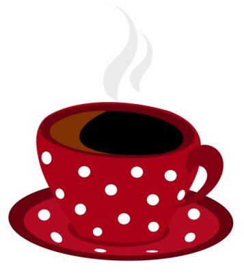 Naklejka Vector cętkowany filiżanka kawy