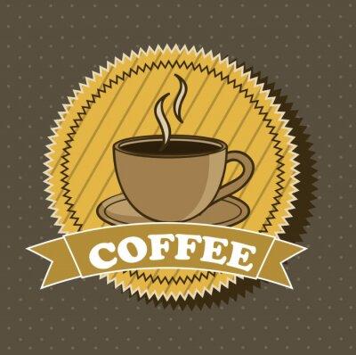 Naklejka vector Coffee
