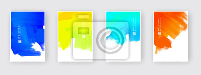Naklejka Vector design elements template for business brochure.