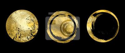 Naklejka Vector gold frame