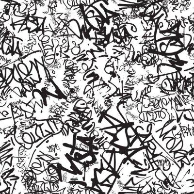 Naklejka Vector graffiti seamless pattern with abstract tags
