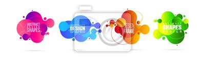 Naklejka vector illustration. modern organic liquid. graphic frame design for text.