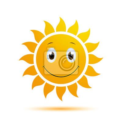 Naklejka Vector Illustration of an Abstract Summer Sun