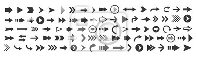 Naklejka Vector illustration of arrow icons set
