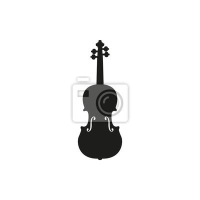 Naklejka Vector ilustracją skrzypce lub skrzypce na białym tle