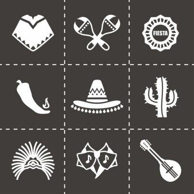 Naklejka Vector Mexico icon set