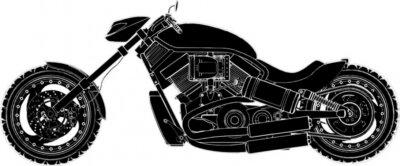 Naklejka Vector Motorcycle 07