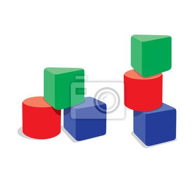 Naklejka vector of 3 blocks