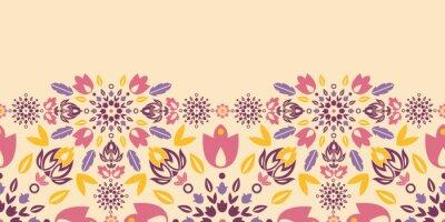 Naklejka Vector ozdobnych kolorowe tulipany poziomą seamless pattern