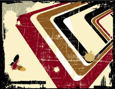 Naklejka vector retro grunge background