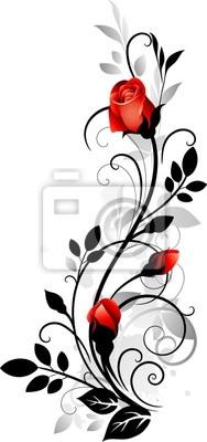 Naklejka Vector róża