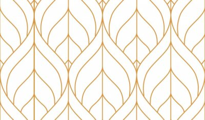 Naklejka Vector seamless geometric pattern. Gold linear pattern. Wallpapers for your design.