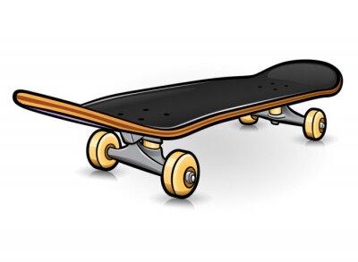 Naklejka Vector skateboard drawing design isolated