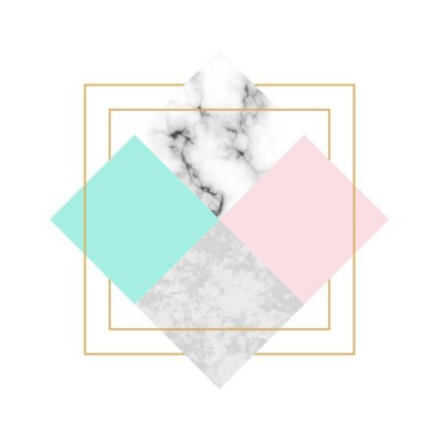 Naklejka Vector trendy geometric background. Modern scandinavian design for poster, card, invitation template, covers and layouts