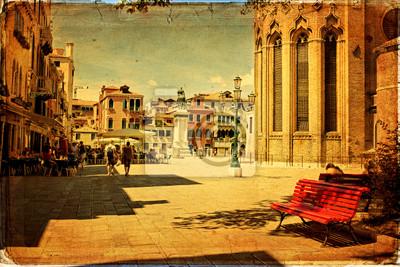 Venetian square - old paper - Stara karta