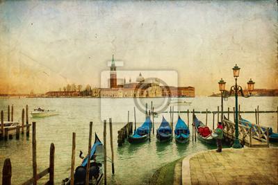 Venezia - Isola di San Giorgio su tekstury retro
