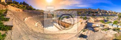 Naklejka View of the Roman Theater and the city of Amman, Jordan