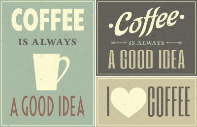 Naklejka Vintage Coffee Collage