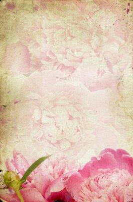 Naklejka Vintage flower (piwonia)