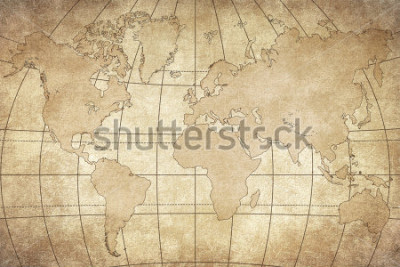 Naklejka vintage map