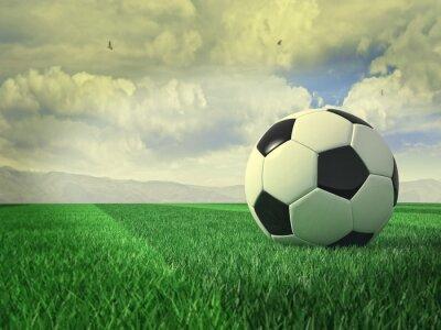 Naklejka vintage, piłka nożna