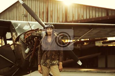 Vintage pilot samolotu
