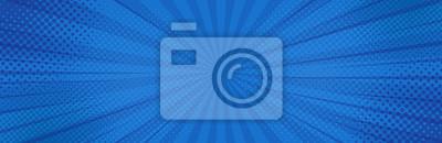 Naklejka Vintage pop-artu niebieskie tło. Ilustracja wektorowa transparent