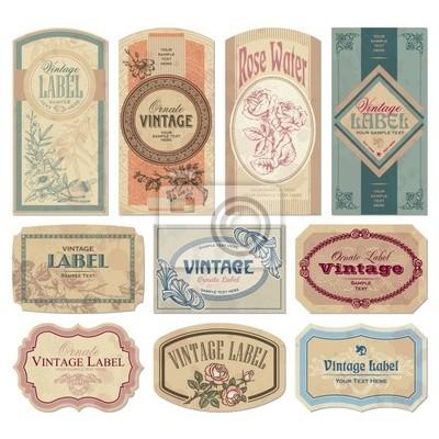 Naklejka vintage set labels (vector)
